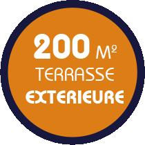 200m2 de surface exterieure